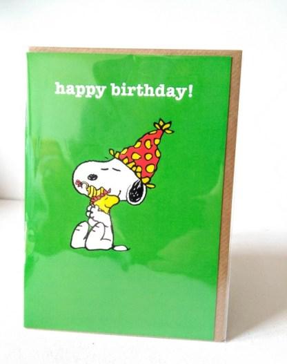 snoopy birthday card