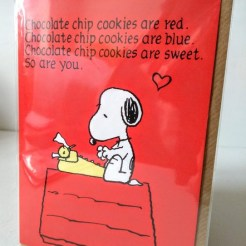 snoopy roses are red card