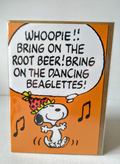 whoopee snoopy card