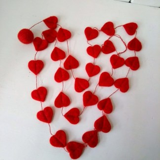 Red heart string