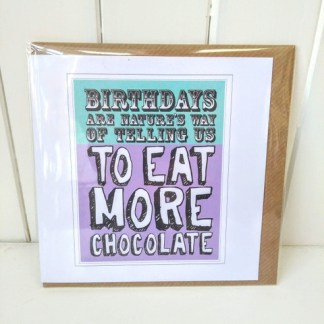 eat more chocolate card