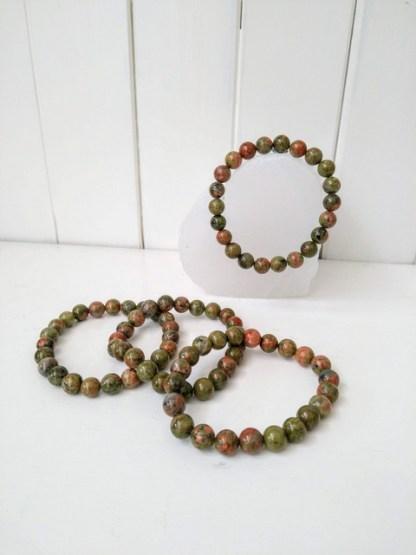 green jasper power bracelet