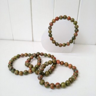 green jasper power bracelet