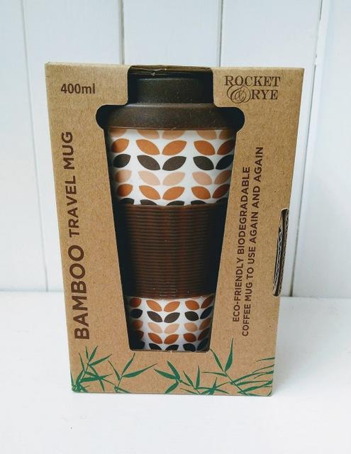 leaf motif coffee cup