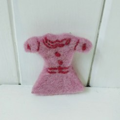 pink dress brooch