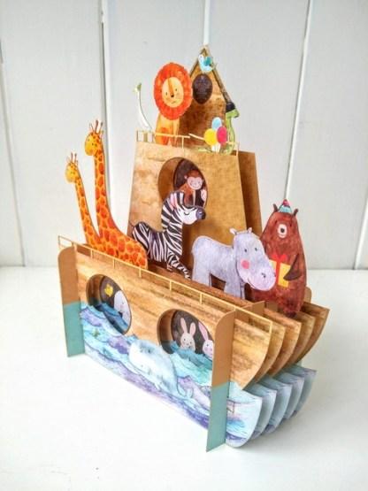 Noahs ark pop up card