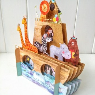 Noahs ark pop up card