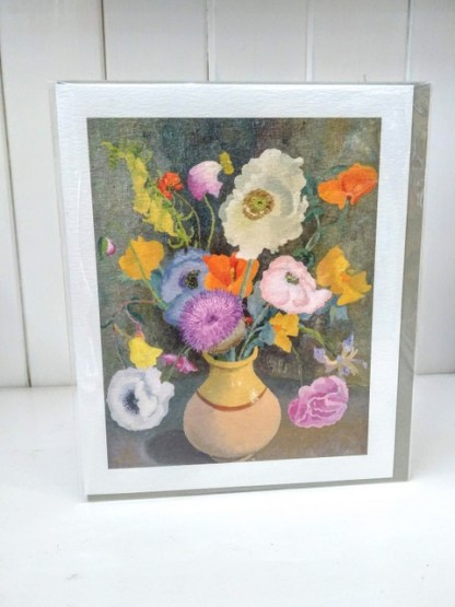 poppies and sweet peas card