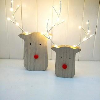 lit reindeer