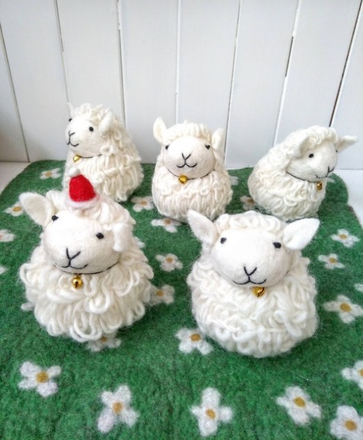 roly poly sheep flock