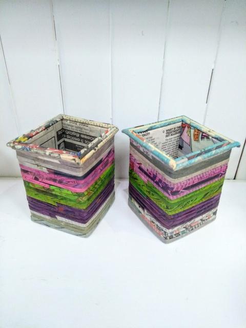 square paper pots
