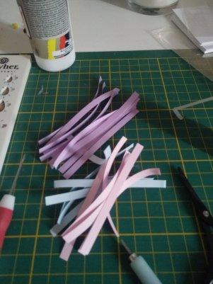 papier pour les petits ronds bicolores