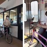 自転車と一緒に乗れる電車!