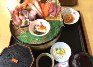 新鮮な魚を使用した定食 刺身定食