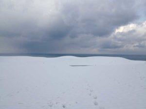冬の鳥取砂丘、いちめんの雪景色に驚く