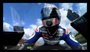 MotoGPオンボードカメラの画像