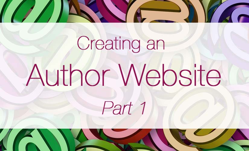 how to create an author website