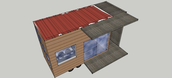 Actually the roof will also be a deck for living on in the sun (eventually with garden and solar)