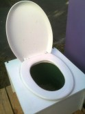Half of the compostable toilet (the poo one)