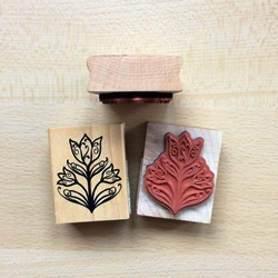 Woodmounted (stempel op hout)
