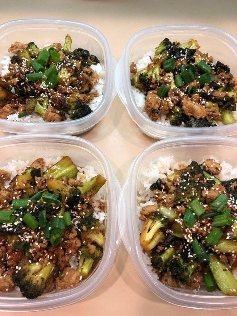 Ground Sesame Chicken & Veggies Meal Prep