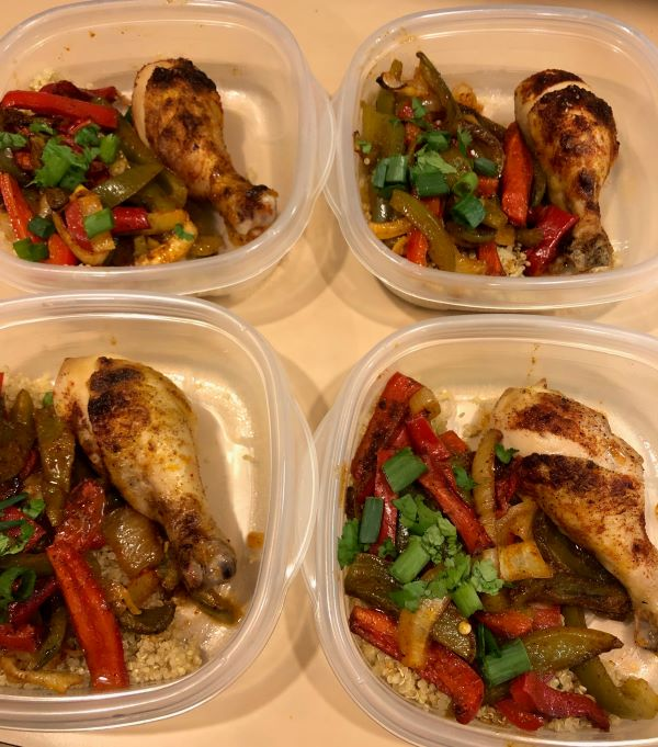 Chipotle Lime Drumsticks & Fajita Veggie Sheet Pan Meal