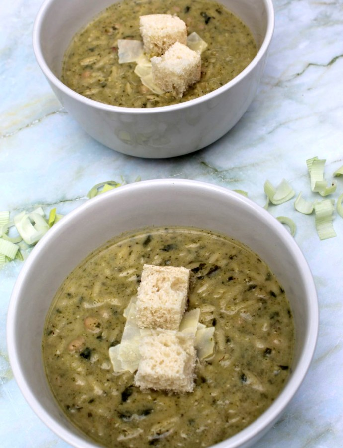 Creamy Leek & White Bean Soup
