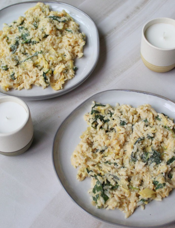 Easy Instant Pot Spinach and Artichoke Risotto