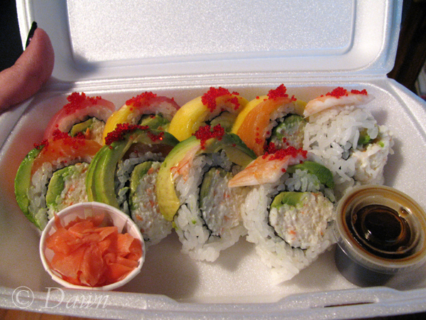 Rainbow roll from Sushi & Co