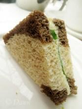 tea sandwich at the Butchart's Afternoon Tea