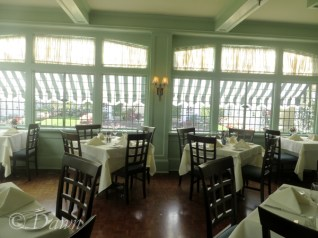 One of several dining rooms at the Butchart's Afternoon Tea - this one overlooks a side garden