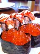 Roll and Ikura from Sushi Matsuri in Victoria, BC