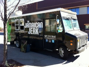 Jamaican Jerk Food Truck parked at MRU