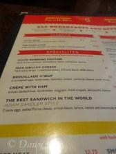 Trois Garçons menu