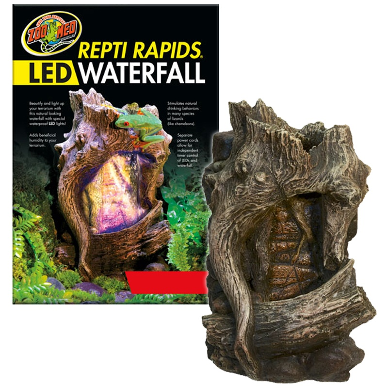 Zoo Med Repti Rapids Led Waterfall Wood Style Welcome