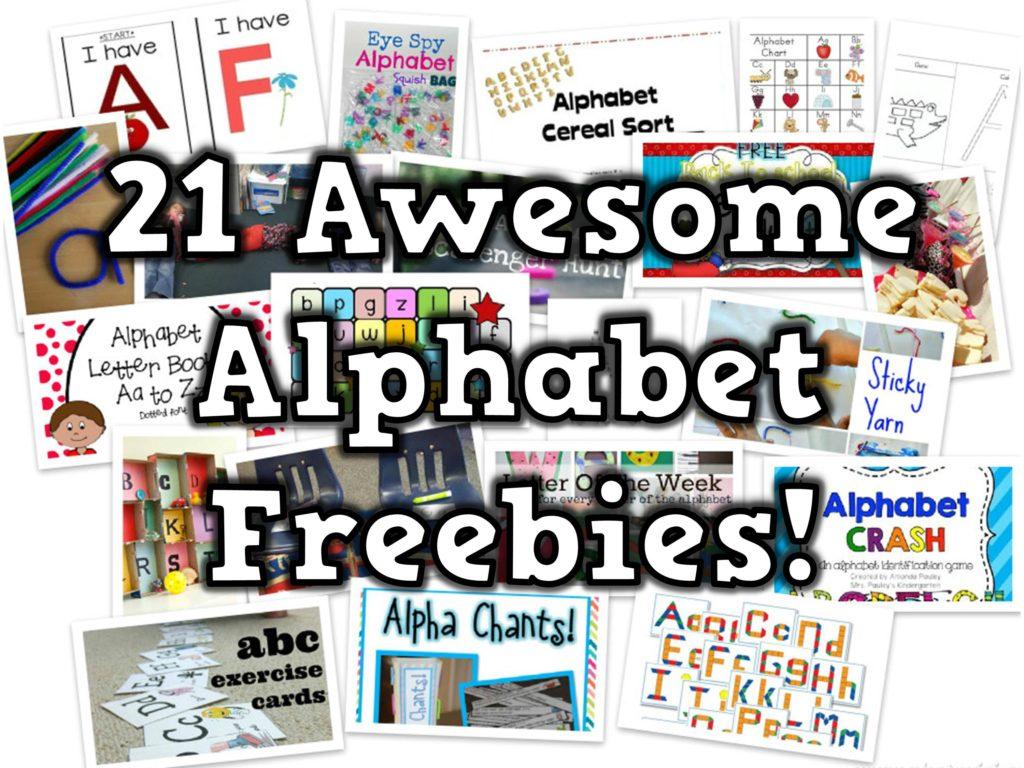 21 Free Alphabet Teaching Resources