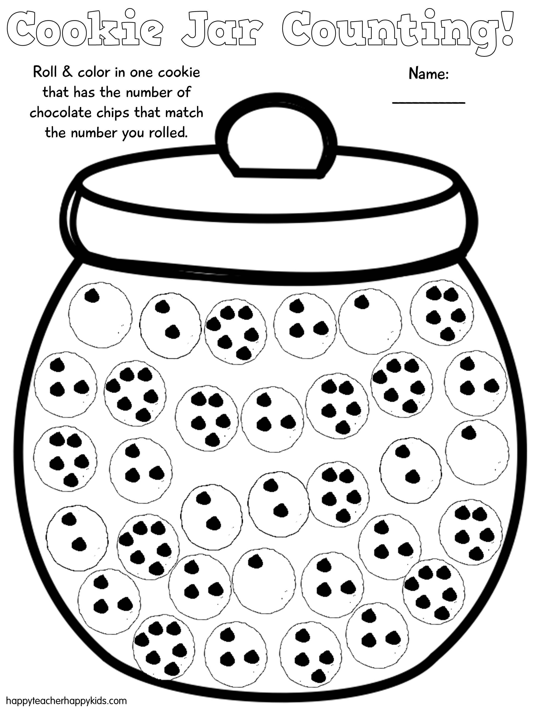 Free Cookie Jar Math For Kindergarten And First Grade