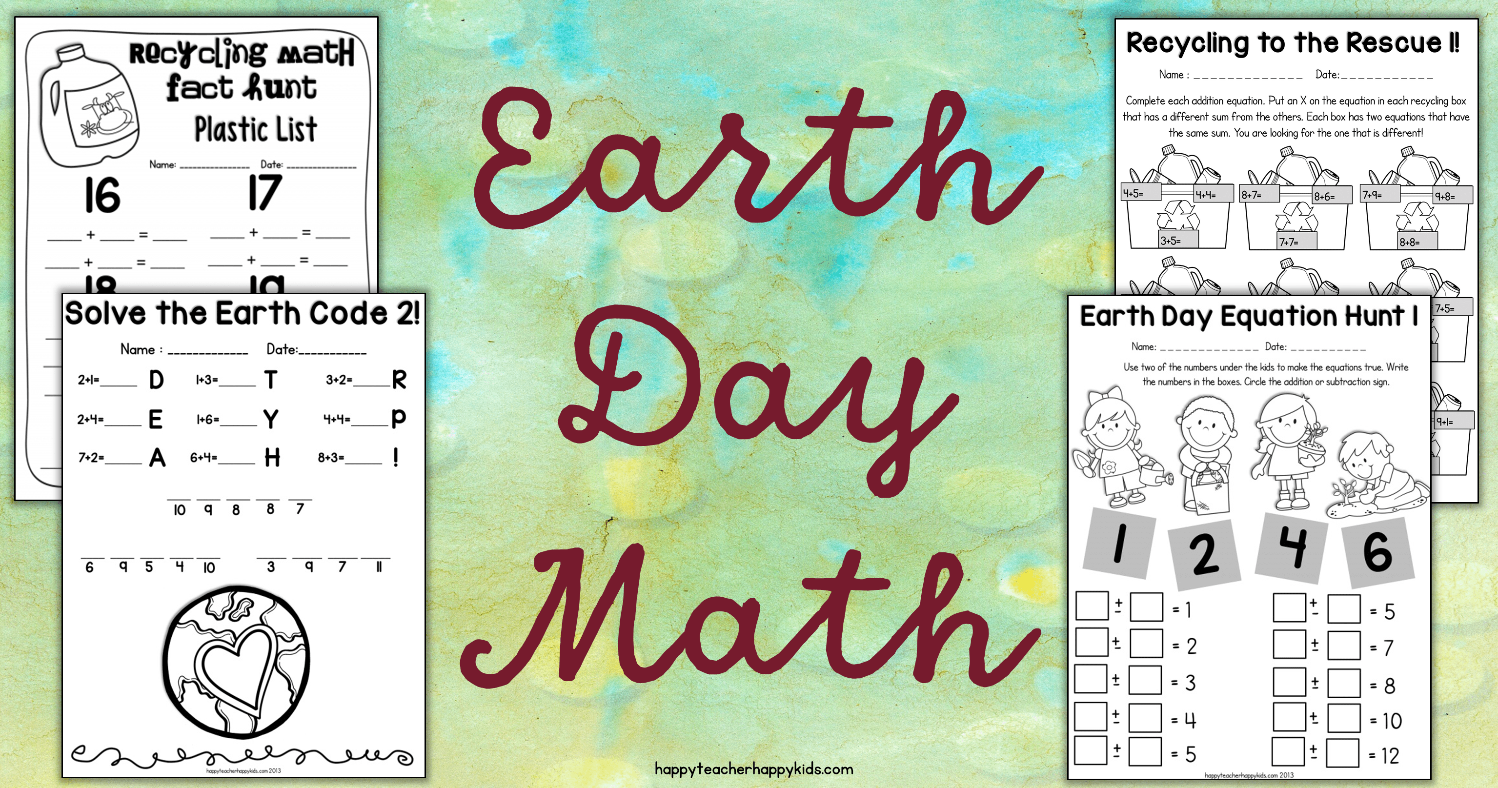 Earth Day Activities For Kindergarten First Grade Amp Second Grade