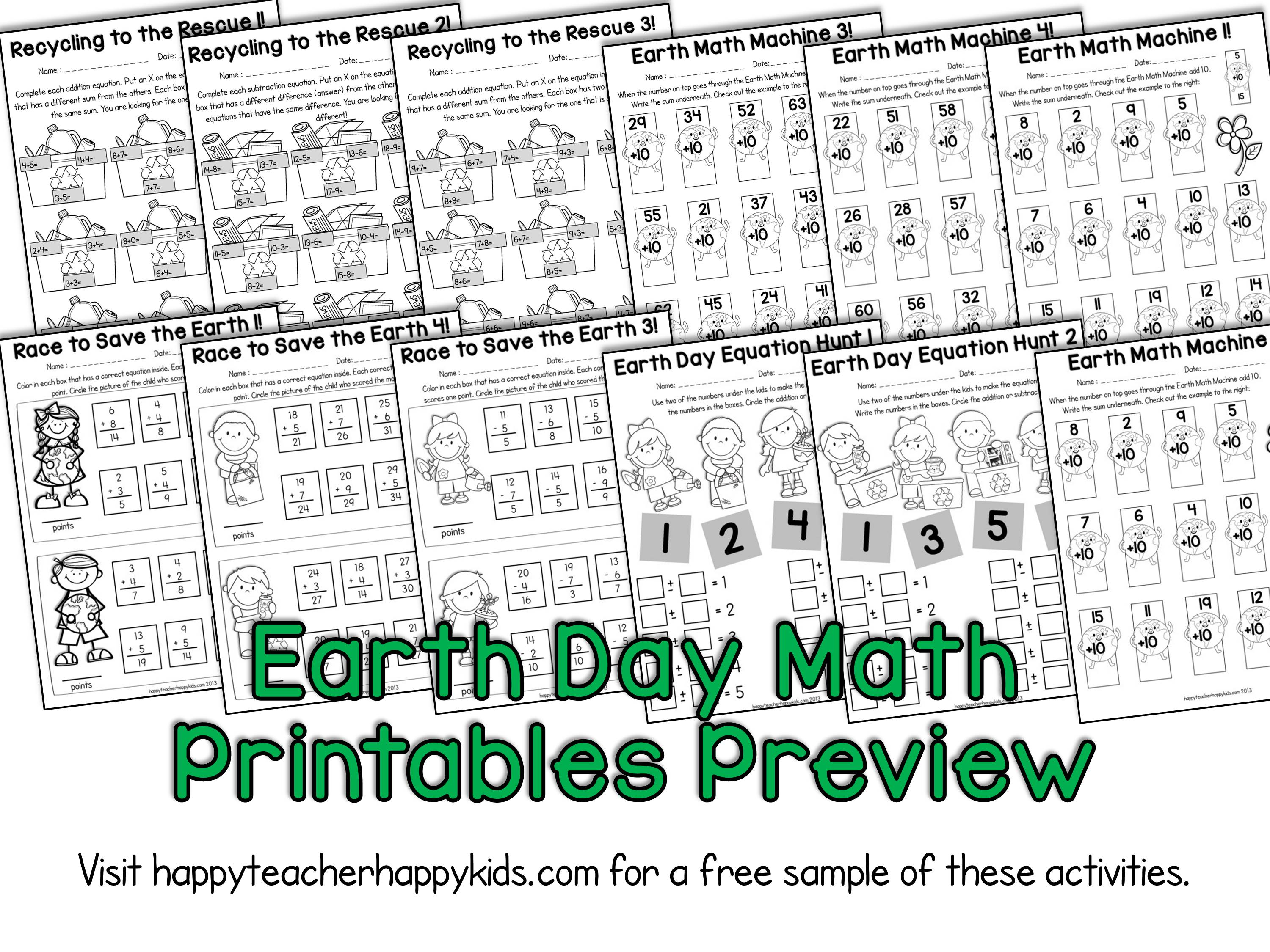 Earth Day Activities For Kindergarten First Grade Amp Second Grade Freebies