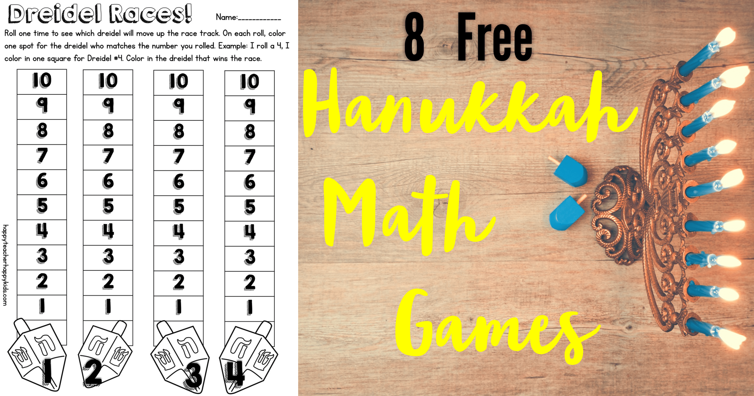 Free Hanukkah Resources For Kindergarten Amp First Grade