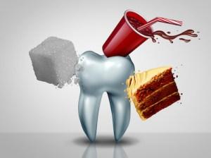 甜食導致蛀牙