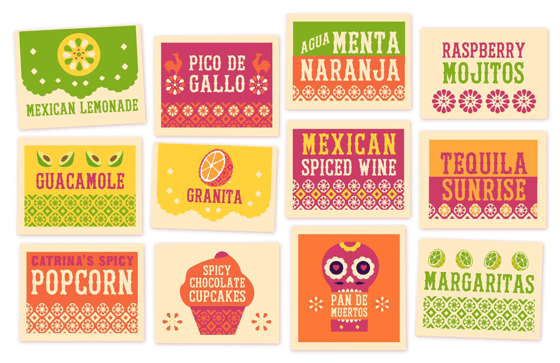 Printable signs paper craft day of the dead