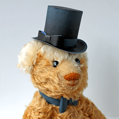 paper top hat templates or patterns for dressing up teddy
