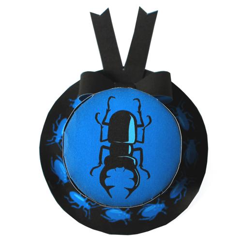 halloween bugs mini paper top hat adorned creepy bugs