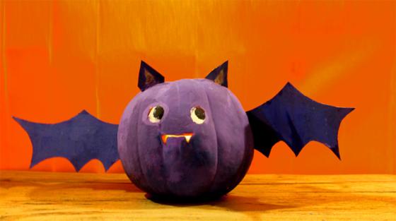 Halloween pumpkin bat diy craft and tutiorial.