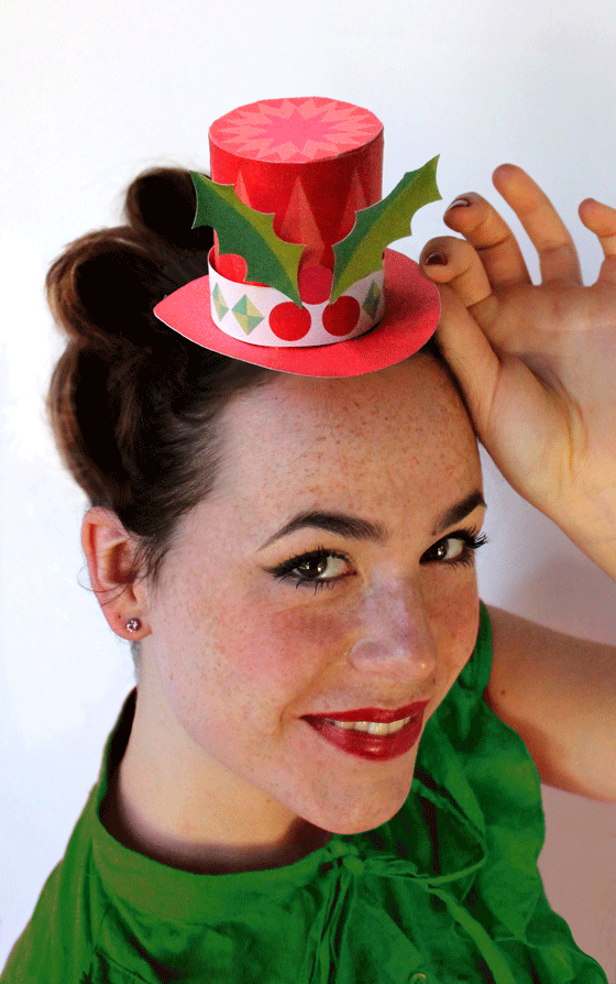 Easy to make festive paper hats mini top style for any Christmas party.