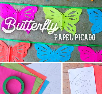 butterfly papel picado instructions on how to make a papel piacdo garland