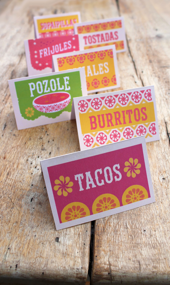 12 simple DIY Mexican food signs. Perfect printables for ...
