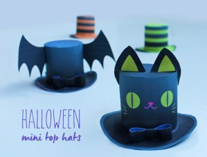 4 Halloween Mini Top Hats