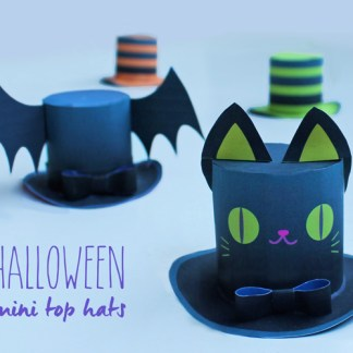4 Halloween Mini Top Hats